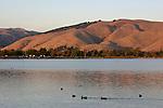 Lake Elizabeth at sunset in Fremont