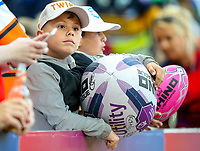 A young fan enjoys the atmosphere inside the stadium <br /> <br /> Photographer Alex Dodd/CameraSport<br /> <br /> Betfred Super League Round 15 - Magic Weekend - Wigan Warriors v Warrington Wolves - Saturday 19th May 2018 - St James' Park - Newcastle<br /> <br /> World Copyright &copy; 2018 CameraSport. All rights reserved. 43 Linden Ave. Countesthorpe. Leicester. England. LE8 5PG - Tel: +44 (0) 116 277 4147 - admin@camerasport.com - www.camerasport.com