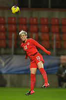 20200310  Calais , France : Canadian Sophie Schmidt (13) pictured during the female football game between the national teams of  Brasil and Canada on the third and last matchday of the Tournoi de France 2020 , a prestigious friendly womensoccer tournament in Northern France , on Tuesday 10 th March 2020 in Calais , France . PHOTO SPORTPIX.BE | DIRK VUYLSTEKE