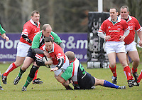 Mark Blair in action during the charity match between the Ulster 1999 XV and a Wooden Spoon Select XV at Shaw's Bridge Belfast.  Mandatory Credit - Photo : Oliver McVeigh