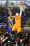Montakit Fuenlabrada's Rolands Smits (r) and Herbalife Gran Canaria's Eulis Baez during Eurocup, Top 16, Round 2 match. January 10, 2017. (ALTERPHOTOS/Acero)