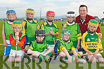 LIXNAW: The Lixnaw side enjoying the Hurling Blitz at Kilmoyley Hurling Club on Monday evening front l-r: Eirean MacElligot-O'Brien, David Allen, Rory McAuliffe and Colin Walsh. Back l-r: Garry Shanahan, Mattew Pike, Jack Brosnan, Mason Cleary and P J McAuliffe (Manager)..   Copyright Kerry's Eye 2008