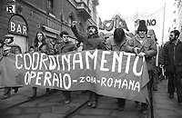 - demonstration of the leftist groups for the right to the home (Milan, january 1977)<br />