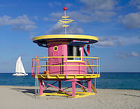 Sailing and all the good life on Miami Beach - Arch - William Lane, 1993. Miami Beach, 10th + Ocean Dr. FL USA.