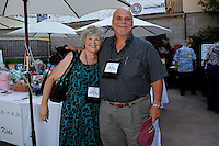 June 27, 2009:  Tom Plant and Laura McCoy of www.wineormous.com at the 'Rhythm on the Vine' charity event to benefit Shriners Children Hospital held at  the South Coast Winery Resort & Spa in Temecula, California..Photo by Nina Prommer/Milestone Photo