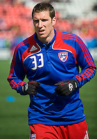 11 April 2009:  FC Dallas forward Kenny Cooper #33 during the warm-up in an MLS game at BMO Field in Toronto between FC Dallas and Toronto FC. The game ended in a 1-1 draw.