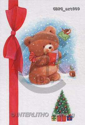 Peter, CHRISTMAS ANIMALS, paintings(GBPGart009,#XA#) Weihnachten, Navidad, illustrations, pinturas