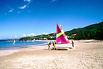 Mexico: Ixtapa..Sailing at Playa Quieta. .Photo Copyright Lee Foster, www.fostertravel.com. .Photo #: mxixta105, 510/549-2202, lee@fostertravel.com
