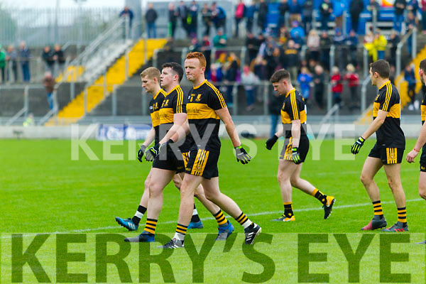 Johnny Buckley. The Dr Crokes and South Kerry teams parade before the Senior County Football Final in Austin Stack Park on Sunday
