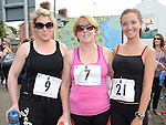 Deidre Durnin, Caroline Conroy and Maeve Jennings who took part in the Ardee 10k run at the Turfman festival. Photo: Colin Bell/pressphotos.ie