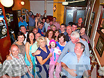 FIFTY & FABULOUS: Joan O'Mahony, Cloghers, Tralee (front centre) had a fantastic time celebrating her 50th birthday last Saturday night starting in Bella Bia, then on to Jess McCarthy's bar, Castle St, where a large group had gathered without her knowledge to celebrate with her.
