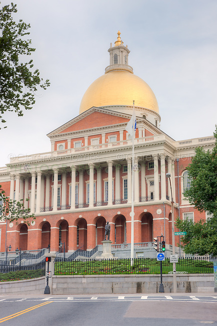 The Massachusetts State House on Beacon Hill in Boston, Massachusetts