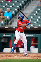 Buffalo Bisons Socrates Brito (51) at bat during an International League game against the Indianapolis Indians on June 20, 2019 at Sahlen Field in Buffalo, New York.  Buffalo defeated Indianapolis 11-8  (Mike Janes/Four Seam Images)