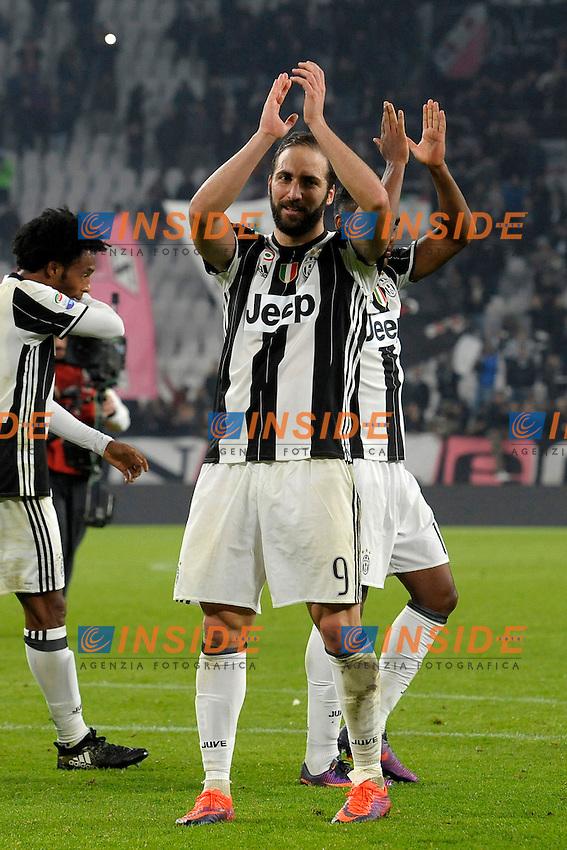 Esultanza Gonzalo Higuain Juventus Celebration <br /> Torino 29-10-2016 Juventus Stadium Football Calcio Serie A 2016/2017 Juventus - Napoli . Foto Filippo Alfero Insidefoto