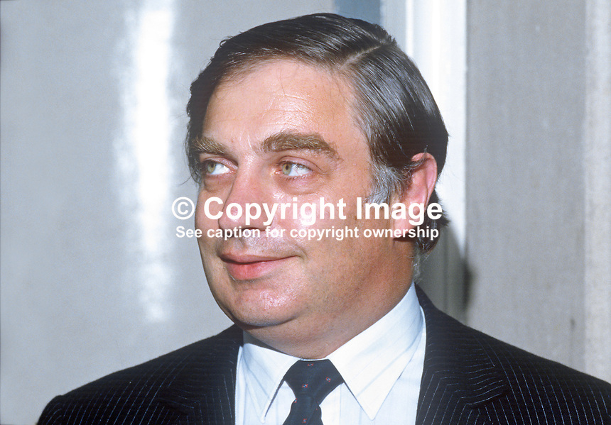 Peter Sutherland, EEC Commissioner, Rep of Ireland, former Irish attorney general, businessman, barrister, 19850712PS1<br /> <br /> Copyright Image from Victor Patterson, 54 Dorchester Park, Belfast, UK, BT9 6RJ<br /> <br /> t1: +44 28 9066 1296 (from Rep of Ireland 048 9066 1296)<br /> t2: +44 28 9002 2446 (from Rep of Ireland 048 9002 2446)<br /> m: +44 7802 353836<br /> <br /> e1: victorpatterson@me.com<br /> e2: victorpatterson@gmail.com<br /> <br /> The use of my copyright images is subject to my Terms &amp; Conditions.<br /> <br /> It is IMPORTANT that you familiarise yourself with them. They are available on my website at www.victorpatterson.com.<br /> <br /> None of my copyright images may be used on a website unless they are visibly watermarked, i.e. &copy; Victor Patterson within the body of the visible image. Metadata denoting my copyright must NOT be deleted. <br /> <br /> Web use is extra at currently recommended NUJ rates.