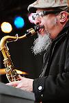 Steve Berlin of Los Lobos, live concert Spring Grüv, Canyons Resort, Park City, Utah