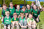 Spa NS, Tralee runners at the County Primary schools athletics championships in An Riocht Castleisland on Saturday front row l-r: Donnagh Stephenson, Christian Kennedy, Oran Murphy, Cian McKenna. Back row: Paddy O'Sullivan, Oisin McGibney, Eabha Murphy, Cian O'Gara, Aoife O'Connor and Maedhbh Hanafin