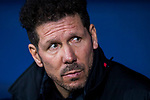 Coach Diego Simeone of Atletico de Madrid looks on prior to the UEFA Europa League 2017-18 Round of 32 (2nd leg) match between Atletico de Madrid and FC Copenhague at Wanda Metropolitano  on February 22 2018 in Madrid, Spain. Photo by Diego Souto / Power Sport Images