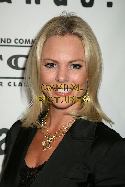 """CHERYL WOODCOCK.""""Brando"""" Los Angeles Premiere at the Egyptian Theatre, Hollywood, California, USA.April 17th, 2007.headshot portrait gold necklace earrings .CAP/ADM/BP.©Byron Purvis/AdMedia/Capital Pictures"""