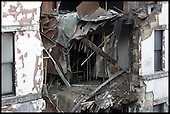 Pic shows the collapsed building in Candleriggs, Glasgow, which came down at around 1 am .... Pic Donald MacLeod 19.10.01