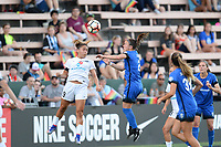 Seattle, WA - Saturday June 24, 2017: Lo'eau Labonta, Christine Nairn during a regular season National Women's Soccer League (NWSL) match between the Seattle Reign FC and FC Kansas City at Memorial Stadium.