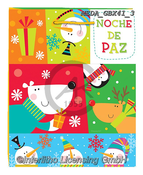 Dreams, CHRISTMAS ANIMALS, WEIHNACHTEN TIERE, NAVIDAD ANIMALES, paintings+++++,MEDAGBX41/3,#XA# ,sticker,stickers