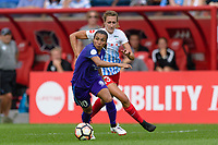 Bridgeview, IL - Saturday July 22, 2017: Marta Vieira Da Silva, Morgan Proffitt during a regular season National Women's Soccer League (NWSL) match between the Chicago Red Stars and the Orlando Pride at Toyota Park. The Red Stars won 2-1.