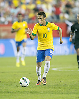 Brazil forward Neymar (10).  In an International friendly match Brazil defeated Portugal, 3-1, at Gillette Stadium on Sep 10, 2013.