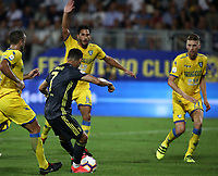 Calcio, Serie A: Frosinone-Juventus, Benito Stirpe stadium, Frosinone, September 23, 2018. <br /> Juventus' Cristiano Ronaldo (c) scores during the Italian Serie A football match between Frosinone and Juventus at Frosinone stadium on September 23, 2018.<br /> UPDATE IMAGES PRESS/Isabella Bonotto