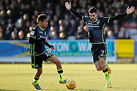 Kyle Bennett and Liam Sercombe of Bristol Rovers during the Sky Bet League 1 match between AFC Wimbledon and Bristol Rovers at the Cherry Red Records Stadium, Kingston, England on 17 February 2018. Photo by Carlton Myrie.