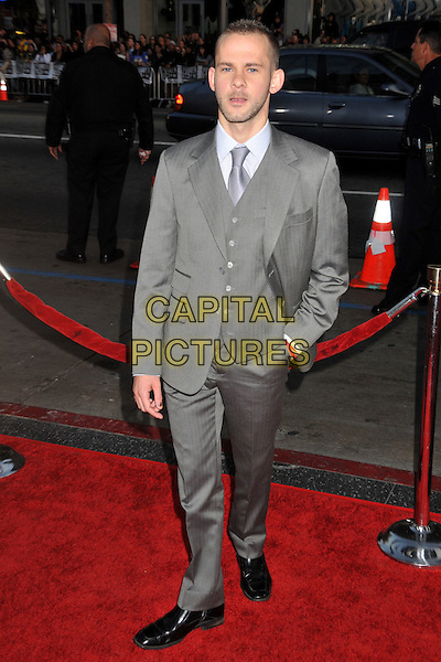 """DOMINIC MONAGHAN.""""X-Men Origins: Wolverine"""" Los Angeles Industry Screening held at Grauman's Chinese Theatre, Hollywood, CA, USA..April 28th, 2009.full length grey gray suit hand in pocket waistcoat  .CAP/ADM/BP.©Byron Purvis/AdMedia/Capital Pictures."""