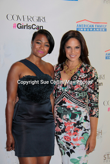 Tatyana Ali & Soledad O'Brien  - Soledad O'Brien and Brad Raymond Starfish Foundation presents New Orleans to New York City 2014 Gala on July 24, 2014 at Espace, New York City for VIP Cocktail Reception, dinner, entertainment with Grammy Award winning Trumpeteer Irvin Mayfield (also Board president) and the New Orleans Jazz Orchestra. (Photo by Sue Coflin/Max Photos)