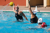 Stanford, CA - April 28, 2019: Mackenzie Fischer during the Stanford vs USC MPSF Women's Water Polo Championship Sunday at the Avery Aquatic Center.<br /> <br /> No. 1 Stanford lost the MPSF Championship in sudden death to the No. 2 Trojans, 9-8.