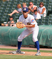 Peoria Chiefs Robinson Chirinos during a Midwest League game at O'Brien Field on July 16, 2006 in Peoria, Illinois.  (Mike Janes/Four Seam Images)