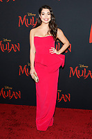 "LOS ANGELES - MAR 9:  Auli'i Cravalho at the ""Mulan"" Premiere at the Dolby Theater on March 9, 2020 in Los Angeles, CA"