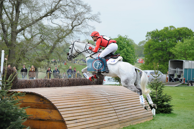 6th May 2017, Paul Tapner riding Bonza King of Rouges during the Cross Country phase of the 2017 Mitsubishi Motors Badminton Horse Trials, Badminton House, Bristol, United Kingdom. Jonathan Clarke/JPC Images