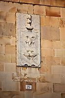 Europe/Espagne/Pays Basque/Guipuscoa/Goierri/Segura: détail façade demeure du Vieux Ségura