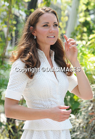 """CATHERINE, DUCHESS OF CAMBRIDGE AND PRINCE WILLIAM.visit the Gardens by the Bay in Singapore_12/09/2012.The royal couple got an ethusiastic welcome from the crowds during their walkabout..Mandatory credit photo: ©MS Pool/DIASIMAGES..""""""""NO UK USE FOR 28 DAYS UNTIL 10TH OCTOBER 2012""""..                **ALL FEES PAYABLE TO: """"NEWSPIX INTERNATIONAL""""**..IMMEDIATE CONFIRMATION OF USAGE REQUIRED:.DiasImages, 31a Chinnery Hill, Bishop's Stortford, ENGLAND CM23 3PS.Tel:+441279 324672  ; Fax: +441279656877.Mobile:  07775681153.e-mail: info@newspixinternational.co.uk"""