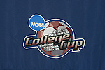 08 December 2007: The College Cup logo adorns the backdrop. The Florida State University Seminoles held a press conference at the Aggie Soccer Stadium in College Station, Texas one day before playing in the NCAA Division I Womens College Cup championship game.