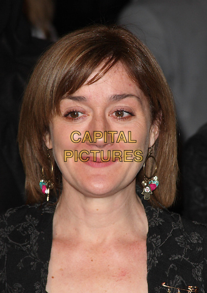 SOPHIE THOMPSON.'Harry Potter and the Deathly Hallows Part 1' world premiere, Odeon cinema, Leicester Square, London, England. 11th November 2010.headshot portrait black grey gray earrings hoop.CAP/JIL.©Jill Mayhew/Capital Pictures