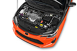 Car Stock 2015 Scion tC Release Series 9.0 2 Door Coupe Engine high angle detail view