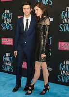 NEW YORK CITY, NY, USA - JUNE 02: Nat Wolff, Margaret Qualley at the New York Premiere Of 'The Fault In Our Stars' held at Ziegfeld Theatre on June 2, 2014 in New York City, New York, United States. (Photo by Celebrity Monitor)