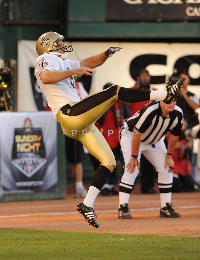 THOMAS MORSTEAD, of the New Orleans Saints, in action during the Saints game against the Oakland Raiders on August 28, 2011 at O.co Coliseum in Oakland, CA. The Saints beat the Raiders 40-20.