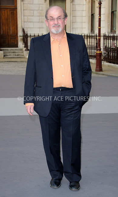 WWW.ACEPIXS.COM . . . . .  ..... . . . . US SALES ONLY . . . . .....June 2 2011, London....Salman Rushdie at the Royal Academy Summer Exhibition 2011 VIP private view at the Royal Academy of Arts in London - 02 June 2011....Please byline: FAMOUS-ACE PICTURES... . . . .  ....Ace Pictures, Inc:  ..Tel: (212) 243-8787..e-mail: info@acepixs.com..web: http://www.acepixs.com