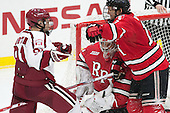 Jake Horton (Harvard - 91), Cam Hackett (RPI - 1), Jared Wilson (RPI - 13) - The Harvard University Crimson defeated the visiting Rensselaer Polytechnic Institute Engineers 5-2 in game 1 of their ECAC quarterfinal series on Friday, March 11, 2016, at Bright-Landry Hockey Center in Boston, Massachusetts.