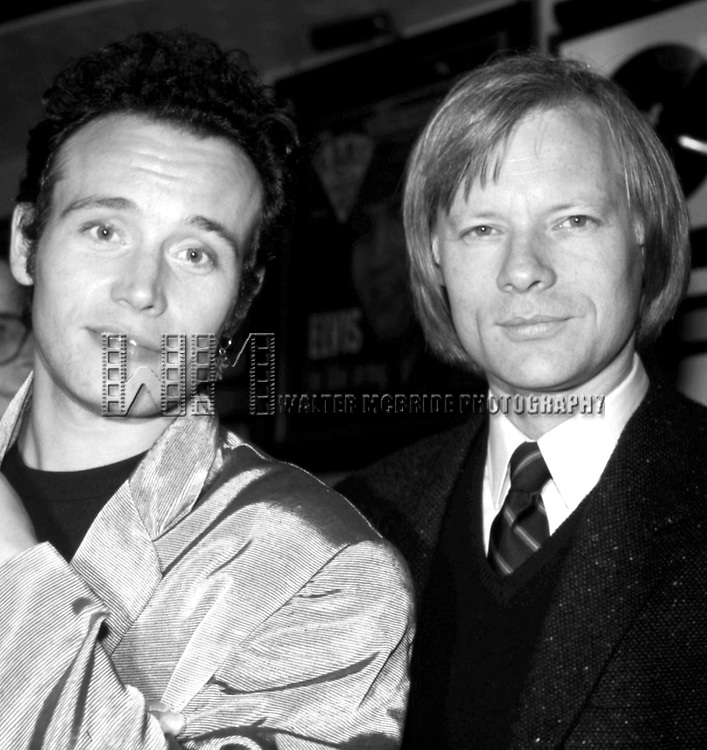 Adam Ant & Miles Copeland at the Hard Rock Cafe in New York City on 11/1/1985