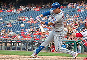 New York Mets right fielder Michael Conforto (30) bats in the eighth inning against the Washington Nationals at Nationals Park in Washington, D.C. on Monday, September 2, 2019.  The Mets won the game 7 - 3.<br /> Credit: Ron Sachs / CNP<br /> (RESTRICTION: NO New York or New Jersey Newspapers or newspapers within a 75 mile radius of New York City)
