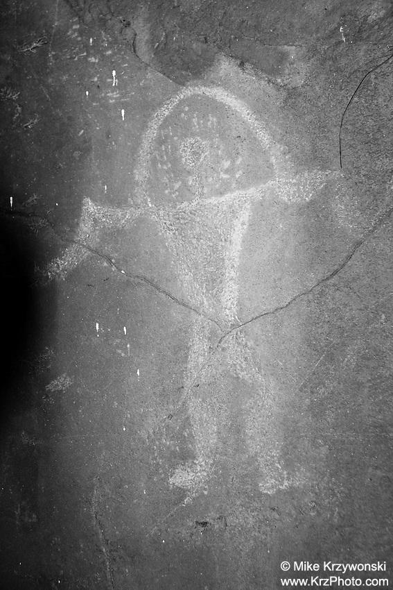 Rainbow Man Hawaiian Petroglyph, Nuuanu, Honolulu, Oahu, Hawaii