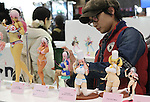 February 19, 2017, Chiba, Japan - Japan's toy maker Nitroplus displays girls figures of Supersonico at the Wonder Festival 2017 Winter in Chiba, suburban Tokyo on Sunday, February 19, 2017. Tens of thousands people visited one-day garage kits and plastic -models trade show hosted by Osaka based toy maker Kaiyodo.    (Photo by Yoshio Tsunoda/AFLO) LwX -ytd-