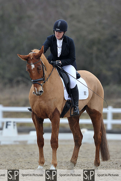 Class 3. British Dressage. Brook Farm training centre. Stapleford abbots. Essex. 10/03/2018. ~ MANDATORY CREDIT Garry Bowden/SIPPA - NO UNAUTHORISED USE - +44 7837 394578